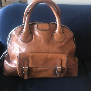 Authentic Chloe large brown Edith tote